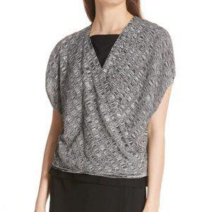 Eileen fisher silk and linen blend crop top size M